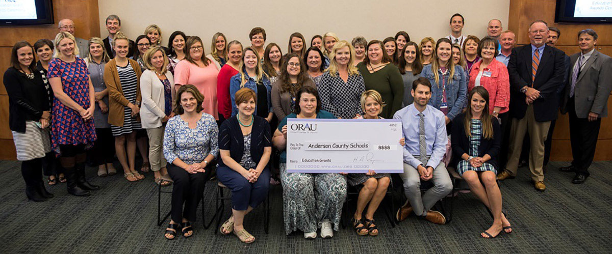 2017 ORAU Education Grants winners from Anderson County Schools