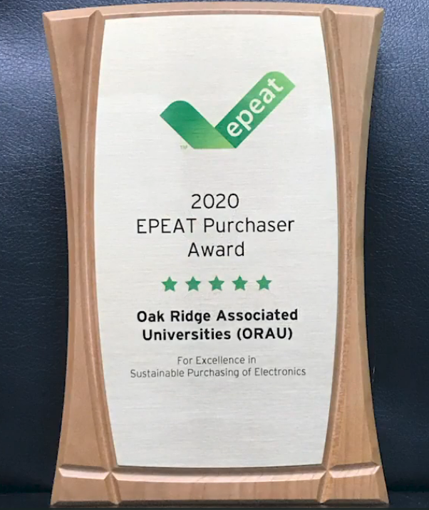 ORAU announced as winner of 2020 EPEAT Award