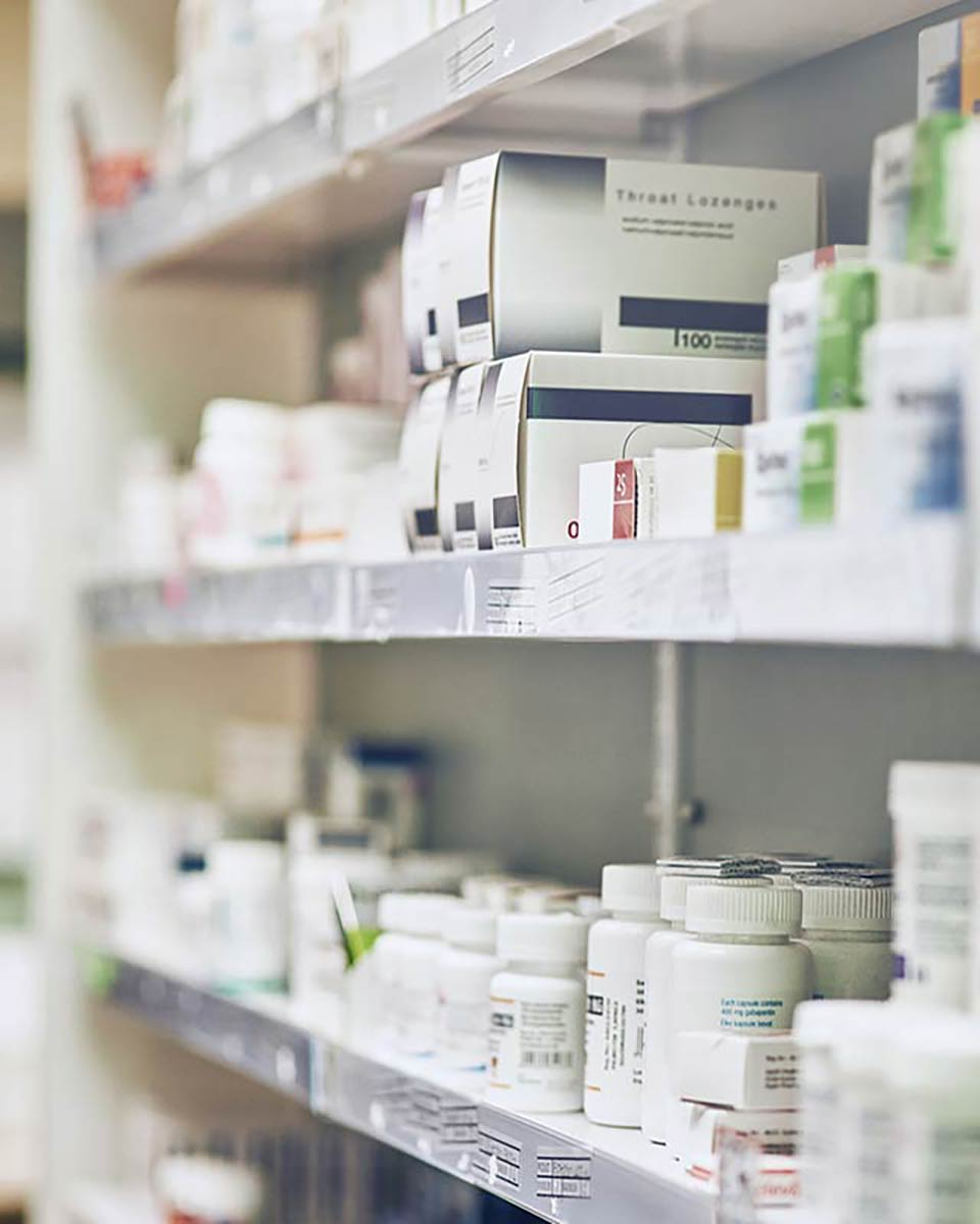 pharmacist shelf