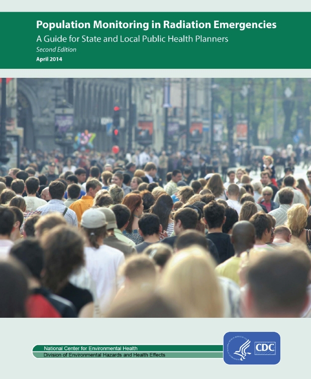 Cover of the publication Population Monitoring in Radiation Emergencies - A Guide for State and Local Public Health Planners